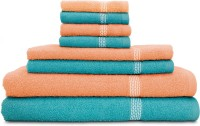 Swiss Republic Cotton Bath, Hand & Face Towel Set (2 Bath Towels, 2 Hand Towels, 4 Face Towels, Light Blue, Light Pink)