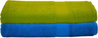 Trident Cotton Bath Towel Set 2 Men Bath Towel, Light Blue, Light Green