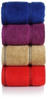 CLOTH FUSION Cotton Hand Towel Set Of 4 Hand Towels, Multicolor