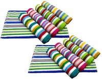 Xy Decor Cotton Hand Towel Set Of 10, Multicolour