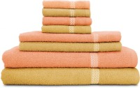 Swiss Republic Cotton Bath, Hand & Face Towel Set (2 Bath Towels, 2 Hand Towels, 4 Face Towels, Light Brown, Light Pink)