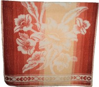 Amita Home Furnishing Floral Cotton Bath Towel 1 Bath Towel, Brown