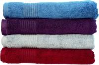 Rakshan Cotton Bath Towel Set (Pack Of Towel 4, Blue, Purple, Grey, Red)