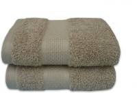 Divine Overseas Cotton Hand Towel Set 2 Piece Premium Hand Towel Set, Brown