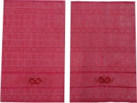 Kairan Jaipur Cotton Bath & Face Towel Set Bath Towel, Face Towel, Pink