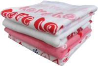 Elegance Multi Design Cotton Hand Towel Set Of 4 Hand Towel, Pink, White, Red