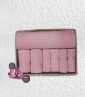 Stellar Home USA Cyrstal Cotton Bath, Hand & Face Towel Set 1 Bath Towel & 2 Hand Towel & 4 Face Towel, Pink