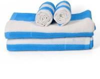 Cortina Cotton Bath & Hand Towel Set 2PC Hand Towel Set, 2PC Bath Towel Set, Blue - BTWEJDRTZFYHUXRG