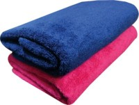 Marwal Cotton Set Of Towels 2 Bath Towel, Blue, Pink