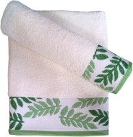 Amber Cotton Bath Towel Set Of 2 Pieces, Green