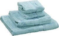 R Home Cotton Terry Bath, Hand & Face Towel Set Bath Towel, Hand Towel, Face Towel, Light Blue