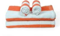 Cortina Cotton Bath & Hand Towel Set 2PC Hand Towel Set, 2PC Bath Towel Set, Orange