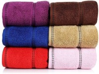 CLOTH FUSION Cotton Hand Towel Set Of 6 Hand Towels, Multicolor