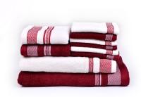 RR Textile House Cotton Bath Towel, Hand Towel, Face Towel Set 1 Bath Towel, 1 Ladies Towel, 2 Hand Towel, 6 Face Towel, Maroon