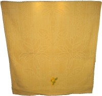 Amita Home Furnishing Embroided Cotton Bath Towel 1 Bath Towel, Yellow