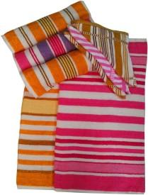 CreativeHomes Cotton Terry Bath, Hand & Face Towel Set