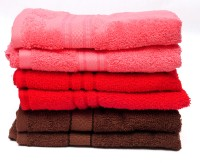 The Home Story Red, Pink, Brown Set Of 6 Napkins - NAPEBGHYNKMMCVDH