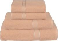 RR Textile House Cotton Bath, Hand & Face Towel Set Ladies Towel 1, Bath Towel 2, Hand Towel, Brown