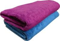 YNA Solid Bath Collection Cotton Bath Towel (2 Bath Towel, Blue)