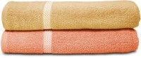 Swiss Republic Cotton Bath Towel (2 Bath Towels, Light Brown, Light Pink)