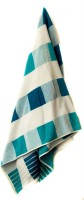 Vrinda Velour Cotton Bath Towel (Bath Towel, White, Light Blue)