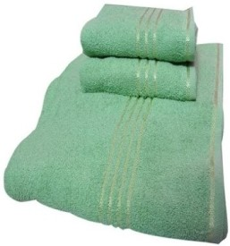 Trident Everyday Cotton Bath Towel Set (1 Bath Towel, 2 Hand Towels, Green)