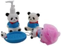 Wishkey Panda Character Bathroom Set For Kids Bath Toy (Multicolor)