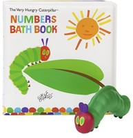 Kids Preferred Book With 5 Squirties Bath Gift Set, The Very Hungry Caterpillar Bath Toy (Multicolor)