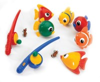 Tolo Magnetic Fishing Set And CD Bath Toy (Multicolor)