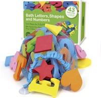 MiniMatters 43 Piece Set Foam Bath Letters And Numbers With Bonus Shapes Bath Toy (Multicolor)