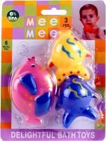 MeeMee Fish Bath Toys - 3 Pieces Bath Toy (Multicolor)