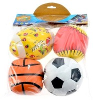 Venus Impex Soft Ball Set Of 4 Bath Toy (Multicolor)