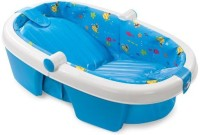 Summer Infant Newborn To Toddler Fold Away Baby Bath (Blue)