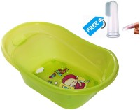 Farlin Baby Angel Bath Tub With Finger Type Toothbrush (Green)