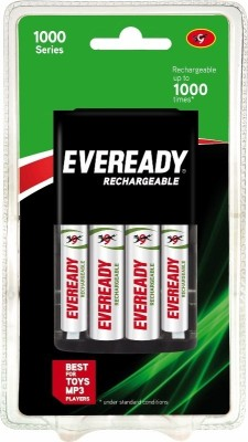 Buy Eveready 1000 Series AA+AAA NiMH Combo (with 4 Rechargeable batteries ) Charger: Battery Charger