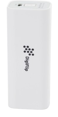 DigiFlip Essential 2200 mAh PC004 Power Bank / Portable Mobile Charger White