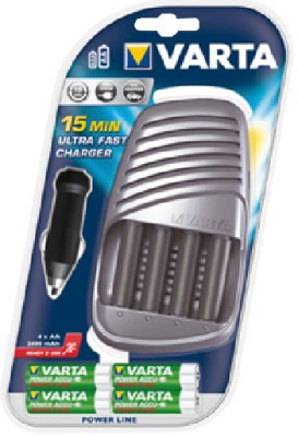 Varta-15-Minute-Ultra-Fast-(with-4-AA-Size-Ni-MH-2400mAh)-Battery-Charger