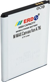 ERD 1650mAh Battery (For Micromax Fun A76)