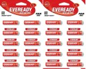 Eveready  Battery - Eveready CZN Batteries AAA 1012 Battery (Pack Of 20) (Non Rechargeable) (RED)