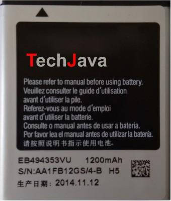 TechJava For Samsung GALAXY MINI S 5570 EB494353VU Battery