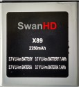 SwanHD  Battery - For Micromax Ninja A89 Battery (Black, Silver)