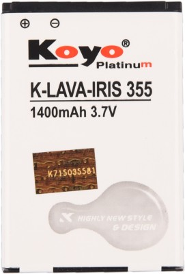 Koyo 1400mAh Battery (Lava Iris 355)