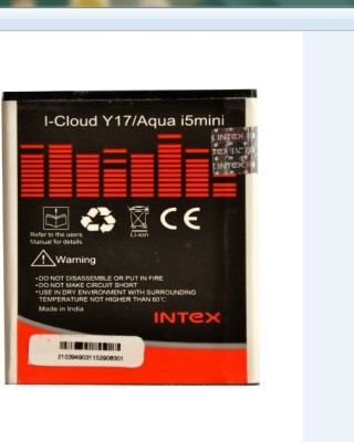 Intex 1500mAh Battery (For I-Cloud Y17/ Aqua i5 Mini)