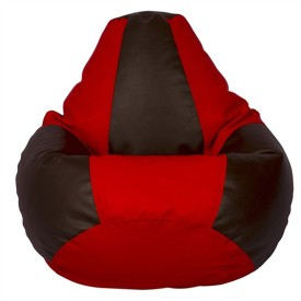 BRICS ENTERPRISES H9 XXXL Bean Bag with Bean Filling BLACK & RED Bean Bag Filler