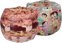 ORKA XL Chhota Bheem Set Of 2 - Digital Printed Bean Bag  With Bean Filling (Multicolor) - BEBEGE2DGFZH6RQ3