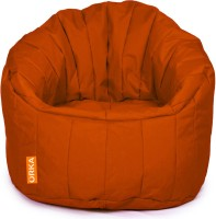 ORKA XXXL Big Boss Chair Bean Bag Sofa  With Bean Filling (Orange)