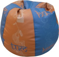 ORKA XL Bean Bag XL (Filled With Beans) Bean Bag  With Bean Filling (Multicolor)