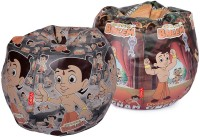 ORKA XXL Chhota Bheem Set Of 2 - Digital Printed Bean Bag  Cover (Without Filling) (Multicolor)