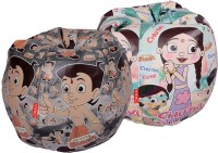 ORKA XL Chhota Bheem Set Of 2 - Digital Printed Bean Bag  Cover (Without Filling) (Multicolor)