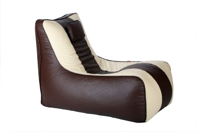 Cozy Bags NEBLNGRCRM&COFY Lounger Bean Bag Without Beans Brown, Beige Size   Large available at Flipkart for Rs.1499